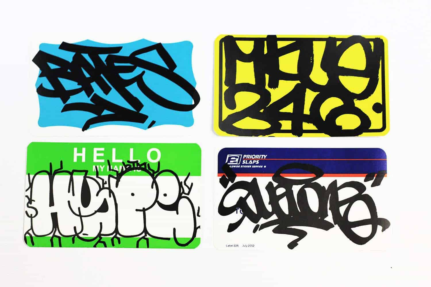 Some of our blank packs that were tagged up by people we admire what are eggshell stickers