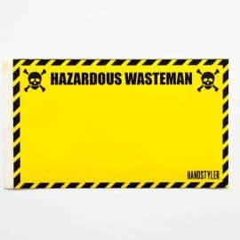 Handstyler Eggshell Stickers - Hazardous Wasteman