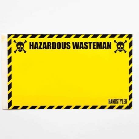 Handstyler Eggshell Stickers - Hazardous Wasteman
