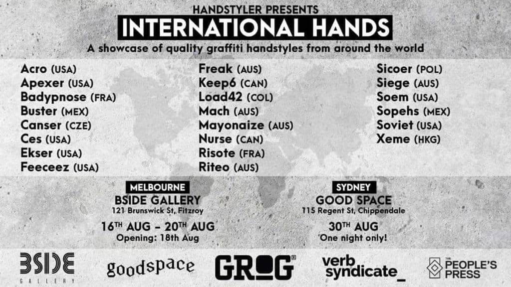 Handstyler Presents: International Hands Flyer