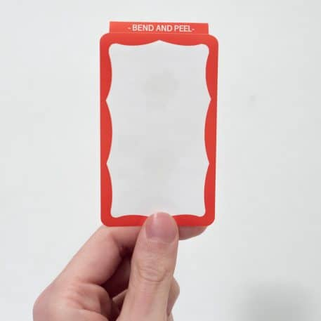 Eggshell Stickers - Red Wavy