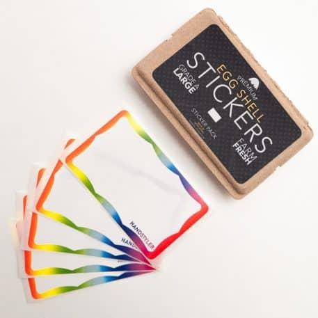 Handstyler Eggshell Stickers - Rainbow Wavy