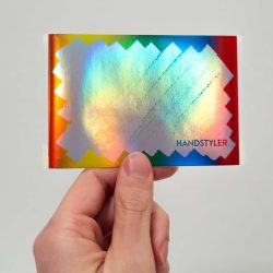 Handstyler Eggshell Stickers - Large Rainbow Scribble Hologram