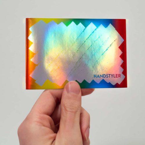 Handstyler Eggshell Stickers - Large Rainbow Scribble Hologram