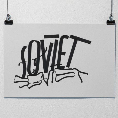 Soviet - Grey Handstyle Card
